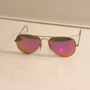 Ray an sunglasses pink